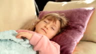Little girl sleeping video