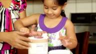 little girl spooning ice cream video
