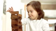 Little Girl Stacking Blocks video