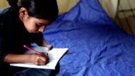 Little Girl Studying video