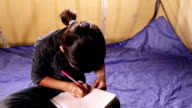 Little Girl Studying video