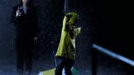 Little Girl Twirling In The Rain video