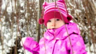Little girl under the tree video