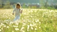 SUPER SLO-MO Little Girl Walking In The Meadow video