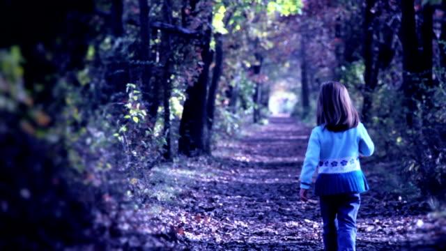 Little Girl Walks into Dark Woods video