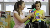 Little Girl with Cerebral Palsy video