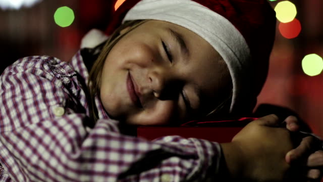Little Girl with gift video