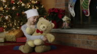 Little girl with leukaemia cancer at Christmas video