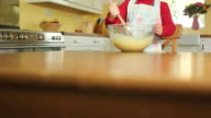 JIB: Little girl with mixing bowl video