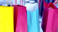 Little girl with shopping bag video
