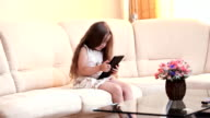 little girl with the tablet video