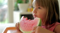Little girl with watermelon video