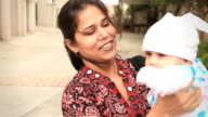 Little Indian Girl and her Mother video