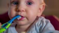 Little kid ends with a teeth cleaning video