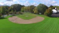Little League Baseball Field Aerial Rise video