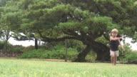 (HD1080i) Little Runner Runs Towards Camera video