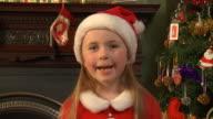 SLOW MOTION: Little santa girl video