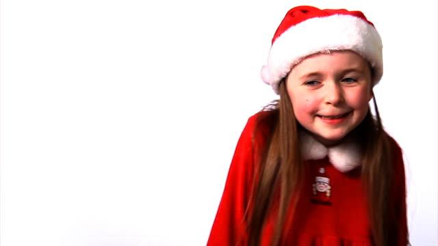 Little santa girl video