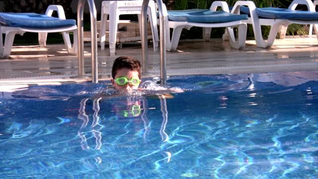Little swimmer swimming video