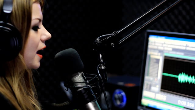 Live Radio Newscaster video