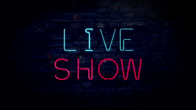 Live Show neon sign video
