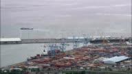 Liverpool Docks  - Aerial View - England,  Sefton,  helicopter filming,  aerial video,  cineflex,  establishing shot,  United Kingdom video
