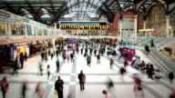 Liverpool Street Station at Rush Hour, London video