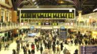 Liverpool Street station timelapse HD video