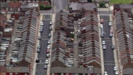Liverpool's Old Terraced Housing  - Aerial View - England,  Liverpool,  helicopter filming,  aerial video,  cineflex,  establishing shot,  United Kingdom video