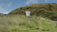 Livestock Warning Sign on Pennine Country Road video