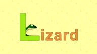Lizard. English ZOO Alphabet - letter L video
