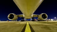 Loading cargo to cargo airplane, Time Lapse video