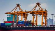 4K TIME LAPSE (4096x2160) : Loading Goods cargo(Apple ProRes. 422(HQ)) video