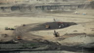 Loading of iron working machine in coal mine video