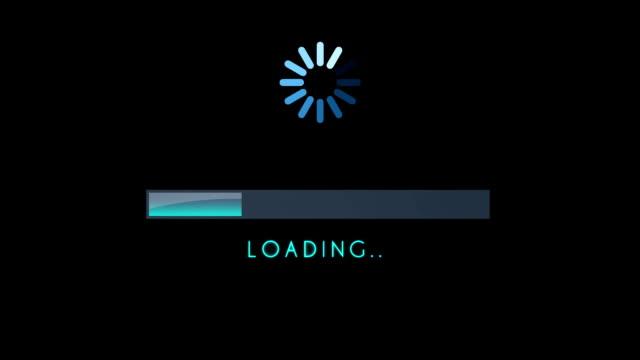 Loading Screen Bar Blue video
