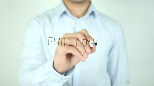 FHA Loan, Man Writing on Screen video