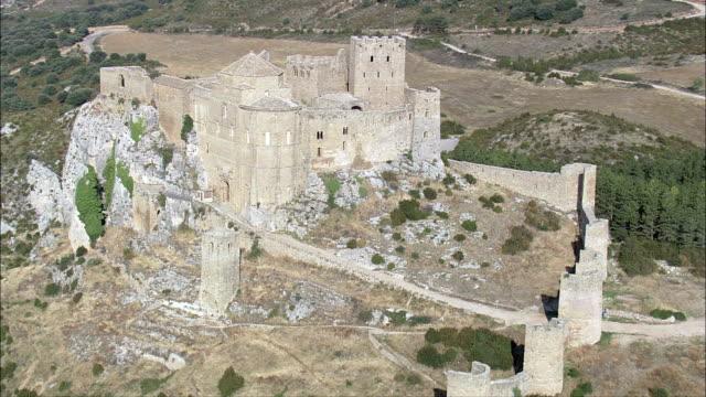 Loarre Castle  - Aerial View - Aragon, Huesca, Loarre, Spain video
