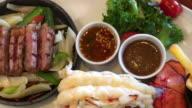 Lobster and Australian beef in luxury food video