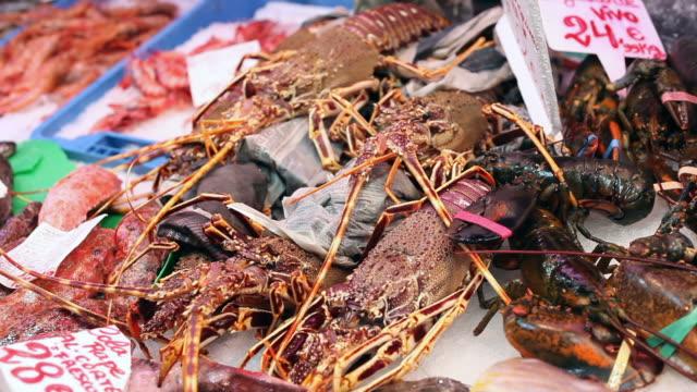 Lobsters / Crabs / crawfish - Seafood Market video