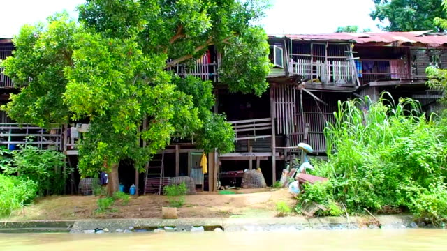 Local Lifestyle  On Ayuthaya River , Thailand video