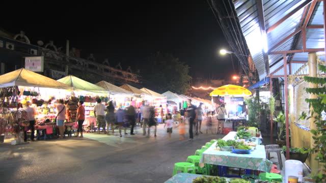 Local night street market video