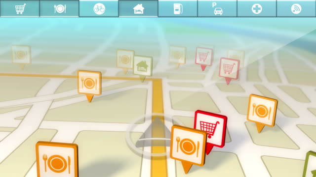 GPS Location Services/Points of Interest Demo HD, SD video