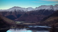 Loch and Mountains - Time Lapse video