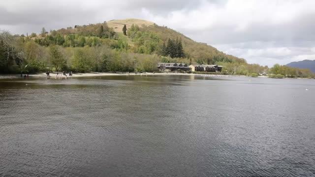 Loch Lomond Scotland UK in The Trossachs National Park famous Scottish tourist destination video