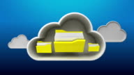 Lock up Cloud IT solution service animation, file security video