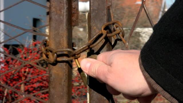 Locked Rusty Fence video