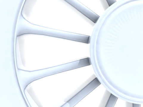 Locomotive Wheel on White Background video