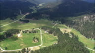Lodges In Black Hills National Forest  - Aerial View - South Dakota, Custer County, United States video