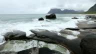 Lofoten Coast Summer View, Norway. video
