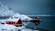 TIME LAPSE: Lofoten Winter Landscape Norway video